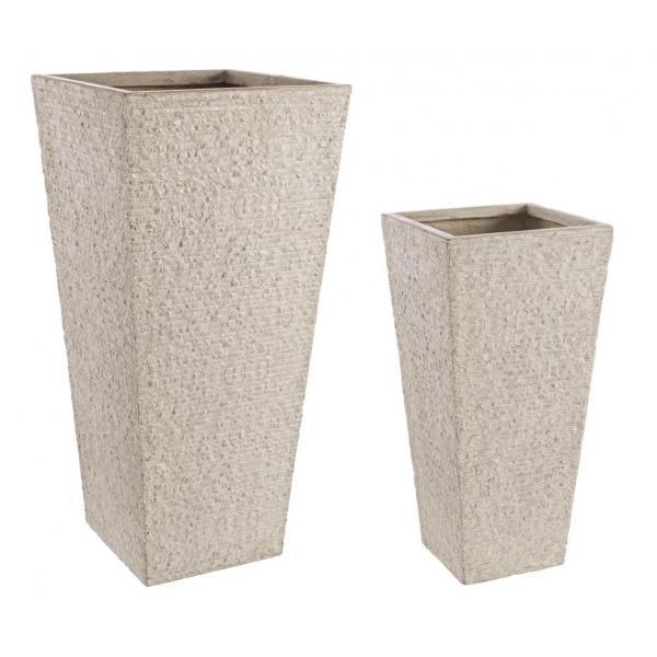 Set De 2 Vase Inalte Patrate Stone-0790549-Siart