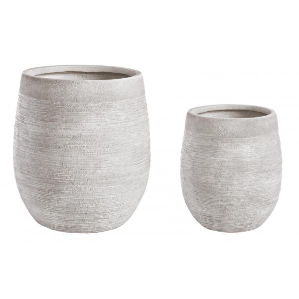 Set De 2 Vase Largi Albe Graffiti-0790577-Siart