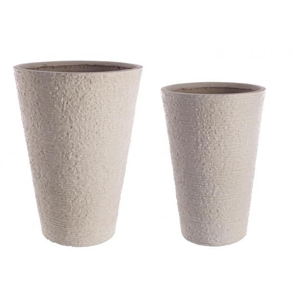 Set De 2 Vase Rotunde Inalte Stone-0790550-Siart