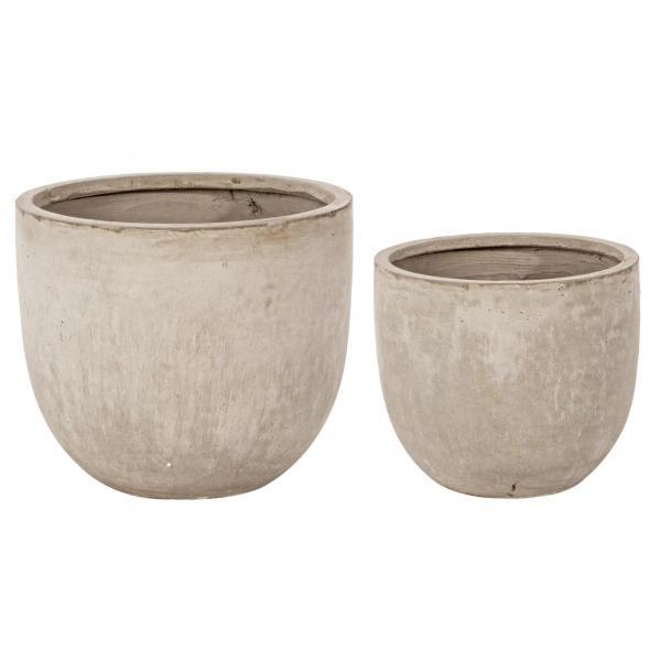 Set De 2 Vase Scunde Rotunde Cement-0790566-Siart