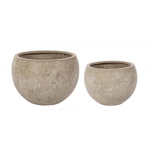 Set De 2 Vase Sferice Cement-0790562-Siart