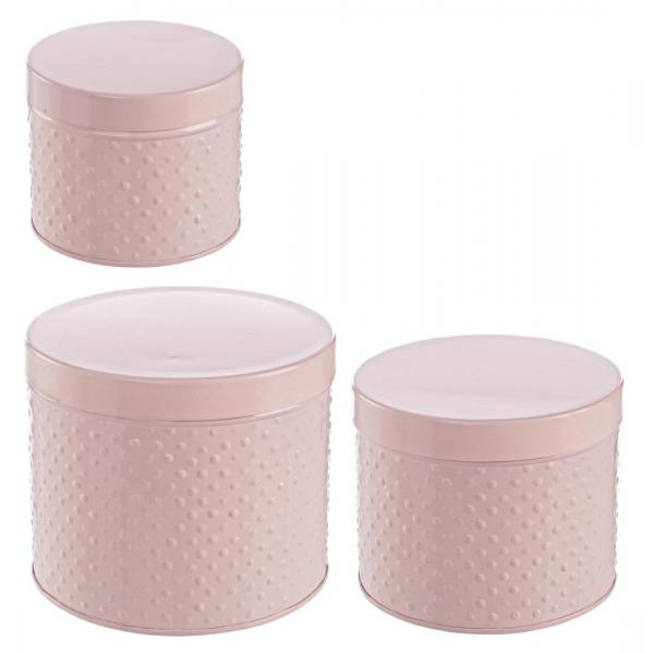 Set De 3 Cutii Roz Rotunde Finesse-0184975-Siart