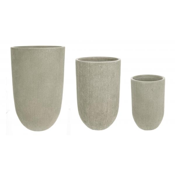 Set De 3 Vaze Inalte Rotunde Verzi Brush-0790583-Siart