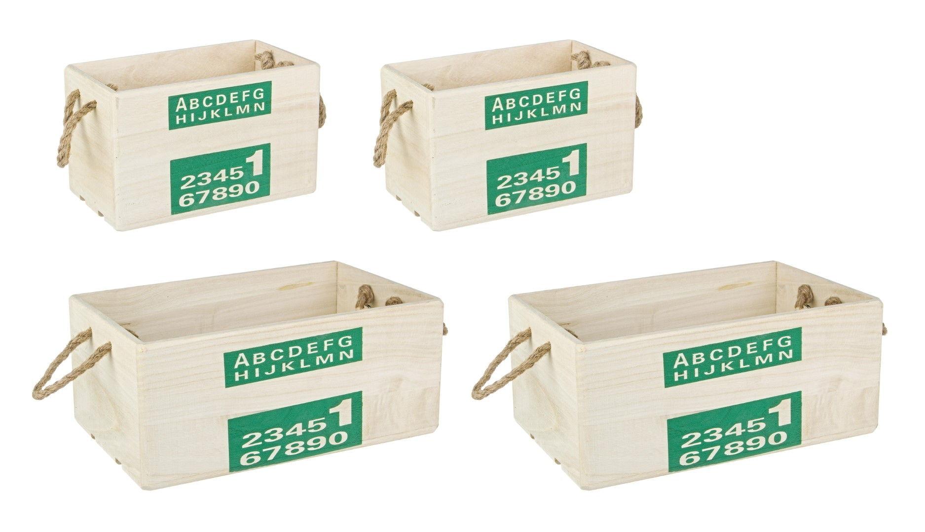 Set De 4 Cutii Negre Alpha-0111080-Siart