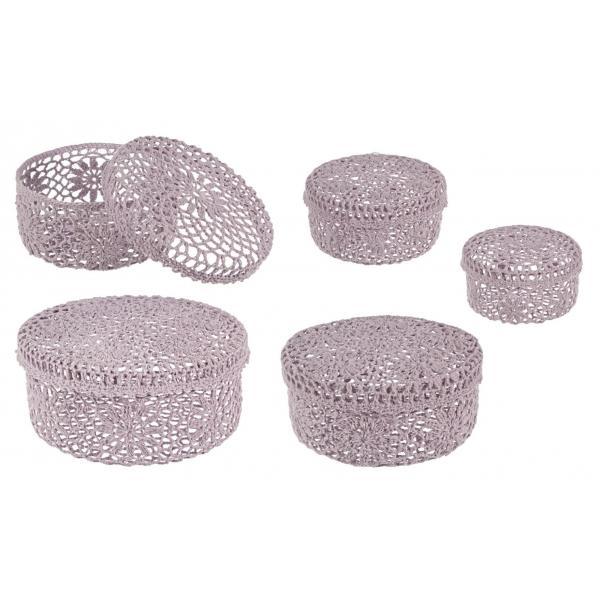 Set De 5 Cutii Roz Crochet-0380185-Siart