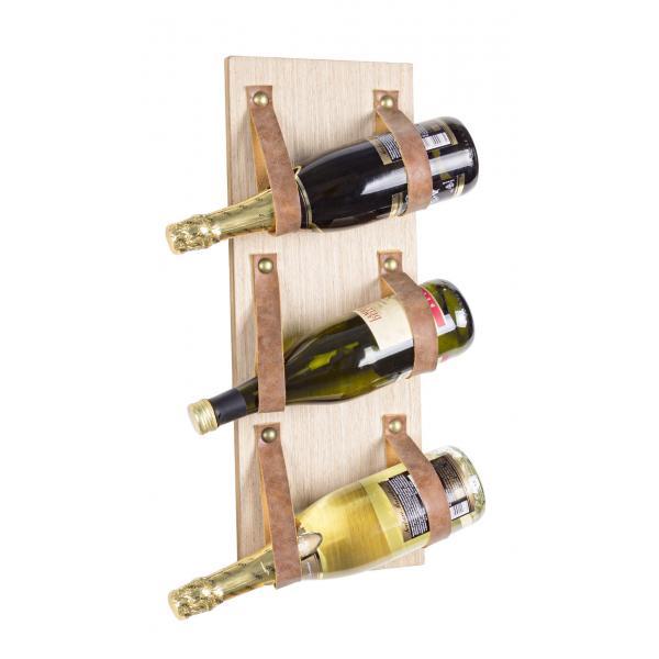Suport Din Lemn Pentru 3 Sticle De Vin Rack-0180968-Siart