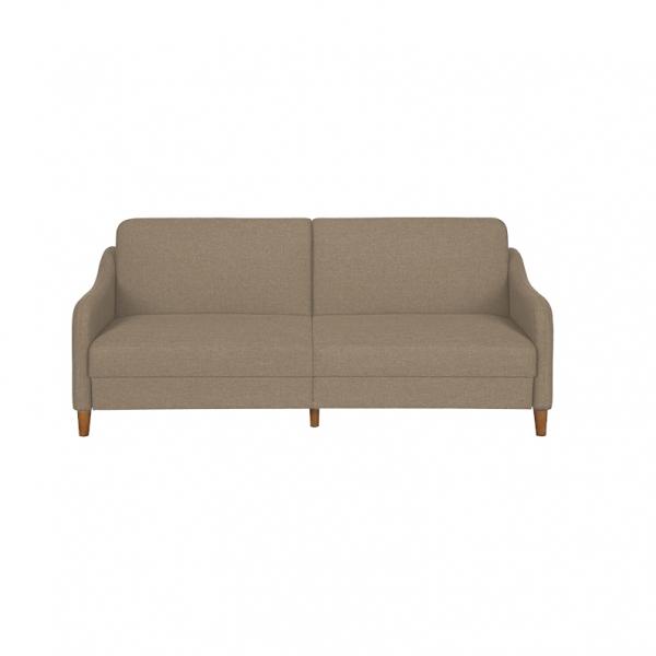 Canapea Jasper, extensibila 3 locuri, din textil, 195 cm, culoare beige deschis - Siart