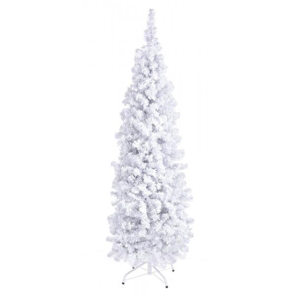 Brad artificial Vajolet alb, 210 cm, frunzis dens - Siart
