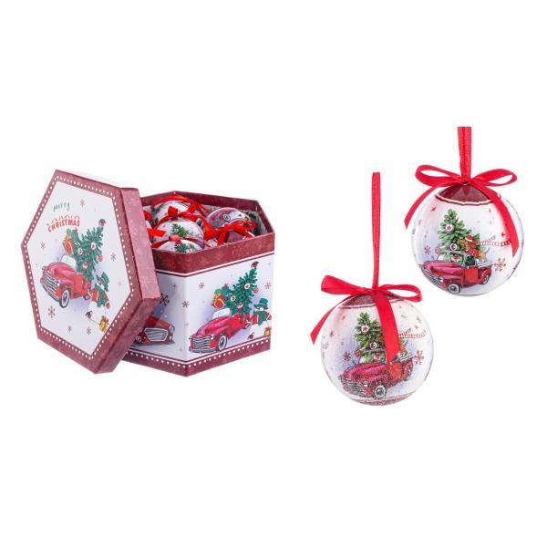 Încărcat laSet 14 globuri ornamentale in cutie de cadou