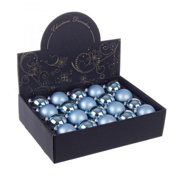 Set 20 bucati globulete albastru deschis 60mm